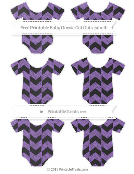 Free Amethyst Herringbone Pattern Chalk Style Small Baby Onesie Cut Outs