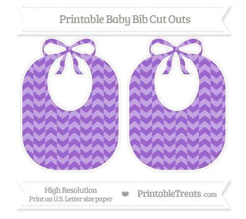 Free Amethyst Herringbone Pattern Large Baby Bib Cut Outs