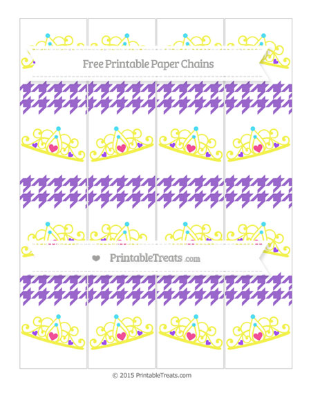 Free Amethyst Houndstooth Pattern Princess Tiara Paper Chains