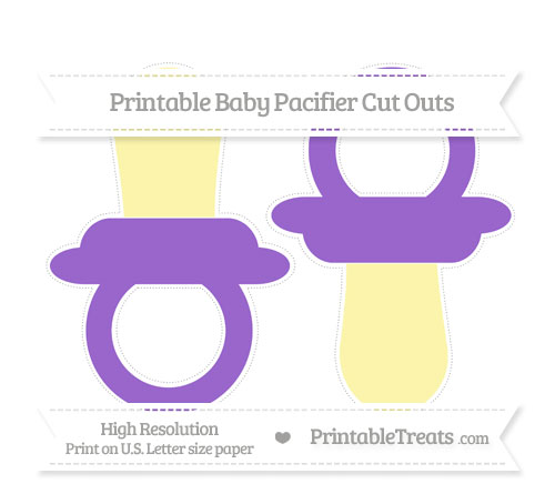 Free Amethyst Large Baby Pacifier Cut Outs