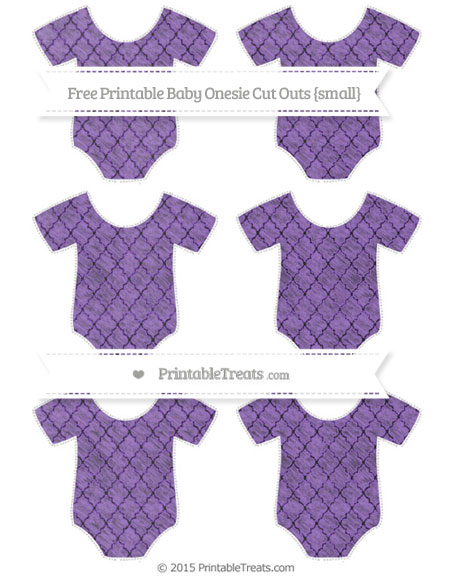 Free Amethyst Moroccan Tile Chalk Style Small Baby Onesie Cut Outs
