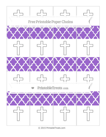 Free Amethyst Moroccan Tile Cross Paper Chains