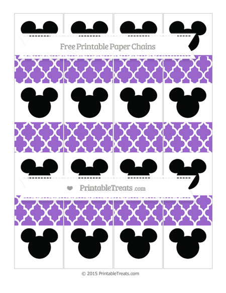 Free Amethyst Moroccan Tile Mickey Mouse Paper Chains