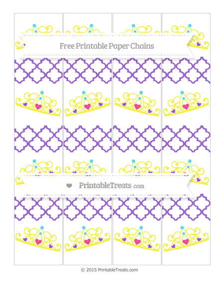 Free Amethyst Moroccan Tile Princess Tiara Paper Chains