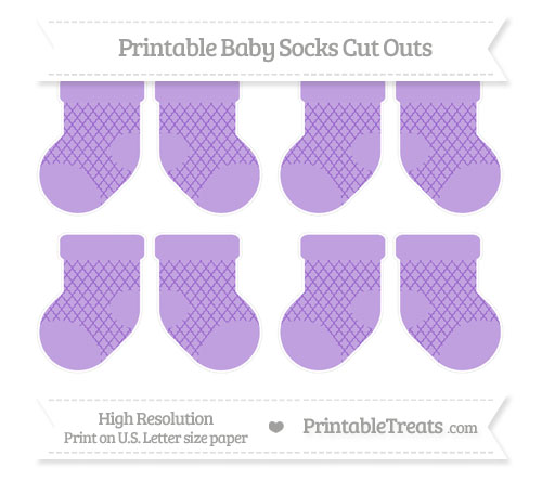 Free Amethyst Moroccan Tile Small Baby Socks Cut Outs