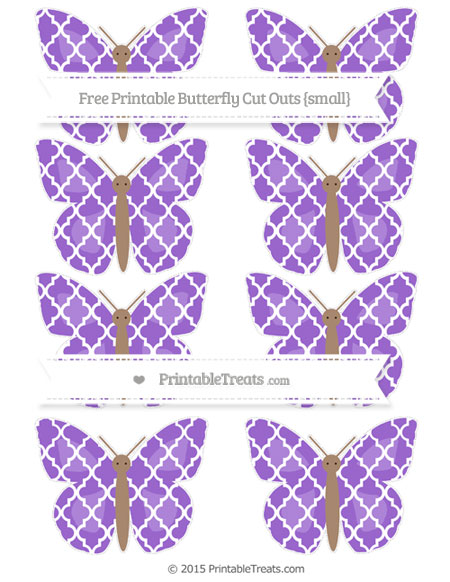 Free Amethyst Moroccan Tile Small Butterfly Cut Outs