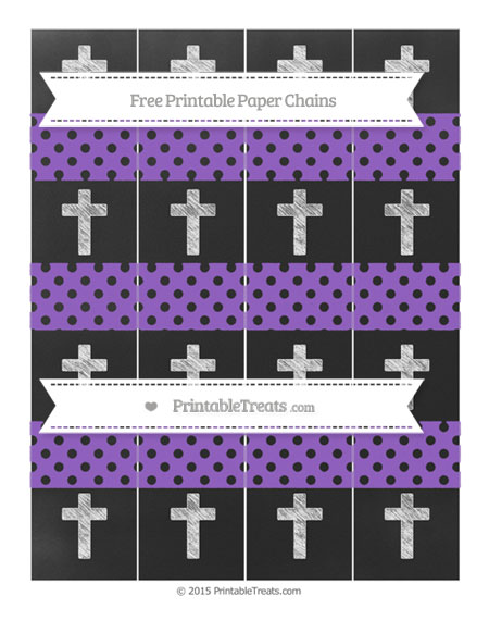 Free Amethyst Polka Dot Chalk Style Cross Paper Chains