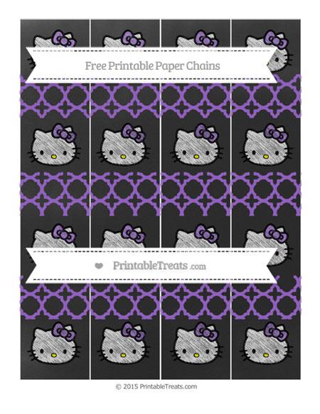 Free Amethyst Quatrefoil Pattern Chalk Style Hello Kitty Paper Chains