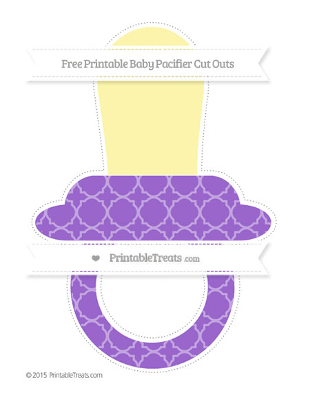 Free Amethyst Quatrefoil Pattern Extra Large Baby Pacifier Cut Outs