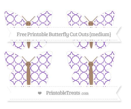 Free Amethyst Quatrefoil Pattern Medium Butterfly Cut Outs