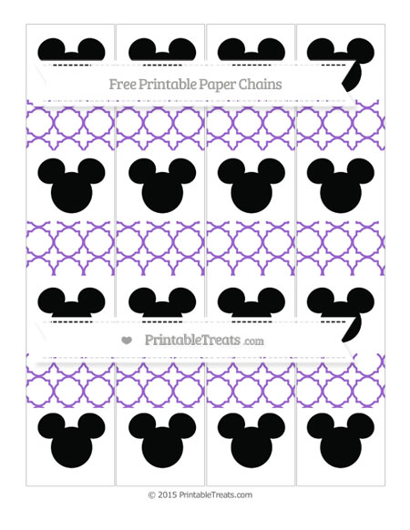 Free Amethyst Quatrefoil Pattern Mickey Mouse Paper Chains