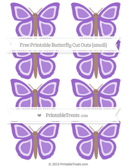Free Amethyst Small Butterfly Cut Outs