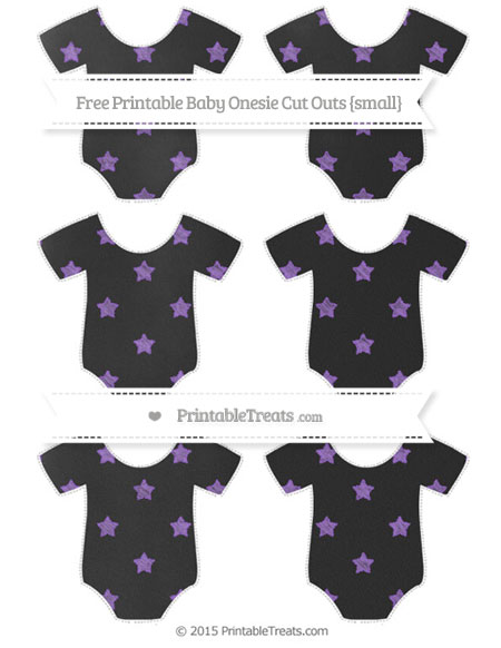 Free Amethyst Star Pattern Chalk Style Small Baby Onesie Cut Outs