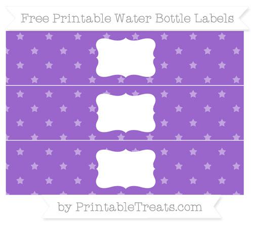 Free Amethyst Star Pattern Water Bottle Labels