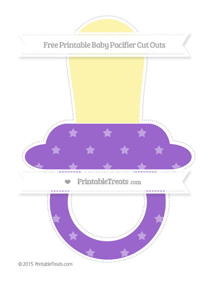 Free Amethyst Star Pattern Extra Large Baby Pacifier Cut Outs
