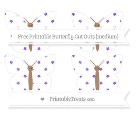 Free Amethyst Star Pattern Medium Butterfly Cut Outs