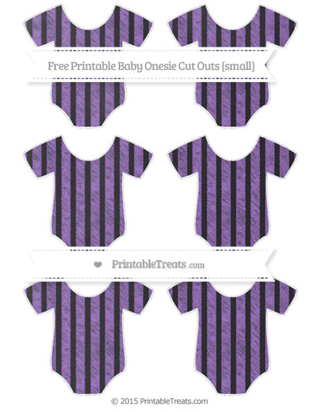 Free Amethyst Striped Chalk Style Small Baby Onesie Cut Outs