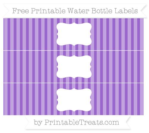 Free Amethyst Striped Water Bottle Labels