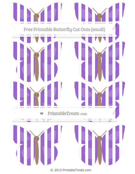 Free Amethyst Striped Small Butterfly Cut Outs