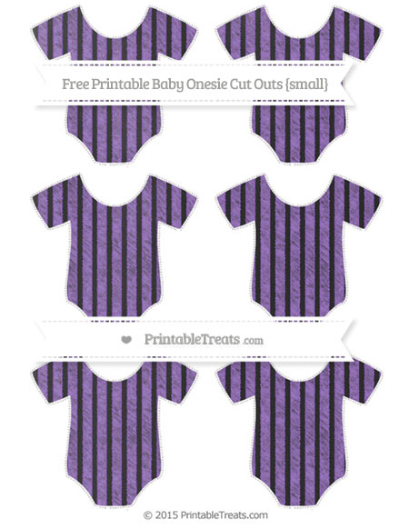 Free Amethyst Thin Striped Pattern Chalk Style Small Baby Onesie Cut Outs