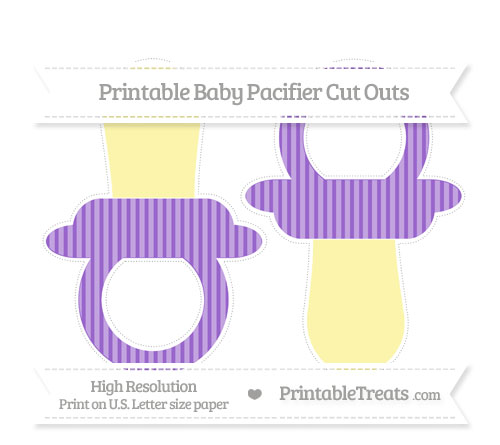 Free Amethyst Thin Striped Pattern Large Baby Pacifier Cut Outs