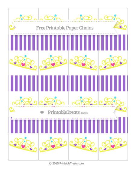 Free Amethyst Thin Striped Pattern Princess Tiara Paper Chains