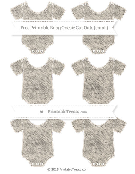 Free Antique White Chalk Style Small Baby Onesie Cut Outs