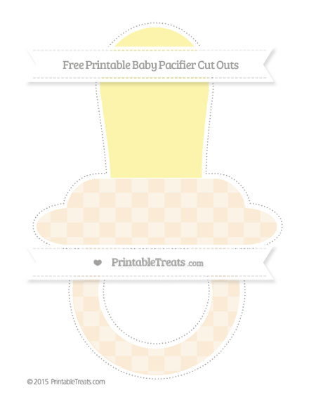 Free Antique White Checker Pattern Extra Large Baby Pacifier Cut Outs