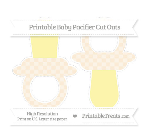 Free Antique White Checker Pattern Large Baby Pacifier Cut Outs