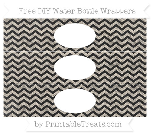 Free Antique White Chevron Chalk Style DIY Water Bottle Wrappers