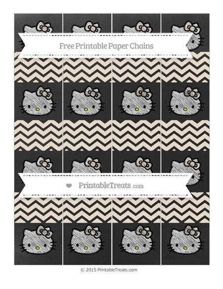 Free Antique White Chevron Chalk Style Hello Kitty Paper Chains