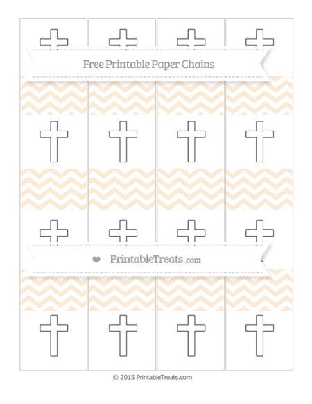 Free Antique White Chevron Cross Paper Chains