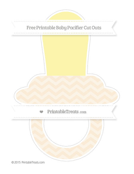 Free Antique White Chevron Extra Large Baby Pacifier Cut Outs