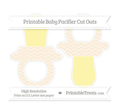 Free Antique White Chevron Large Baby Pacifier Cut Outs