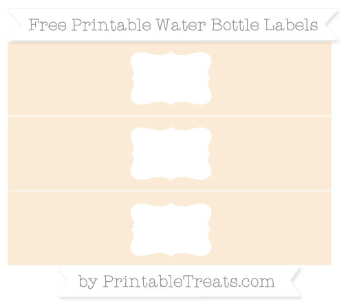 Free Antique White Water Bottle Labels
