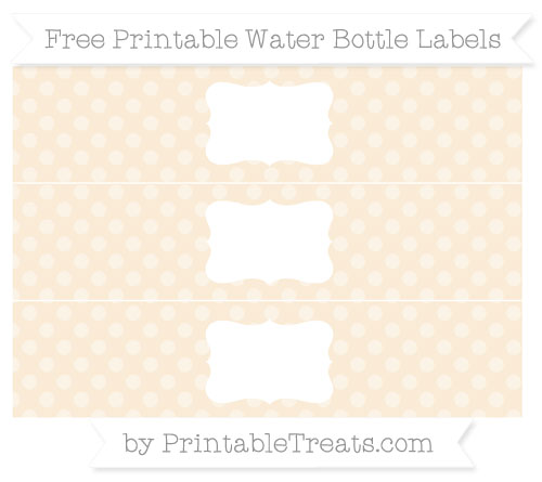Free Antique White Dotted Pattern Water Bottle Labels