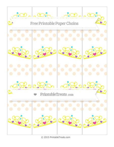 Free Antique White Dotted Pattern Princess Tiara Paper Chains