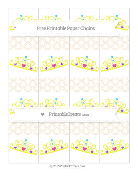 Free Antique White Fish Scale Pattern Princess Tiara Paper Chains