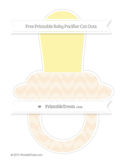 Free Antique White Herringbone Pattern Extra Large Baby Pacifier Cut Outs