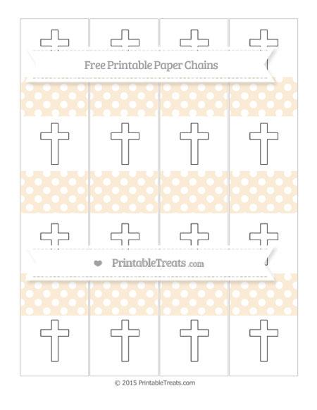 Free Antique White Polka Dot Cross Paper Chains