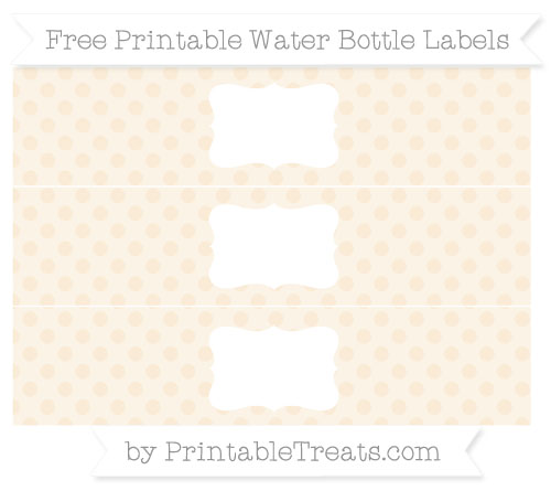Free Antique White Polka Dot Water Bottle Labels