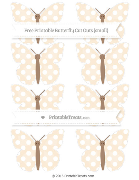 Free Antique White Polka Dot Small Butterfly Cut Outs