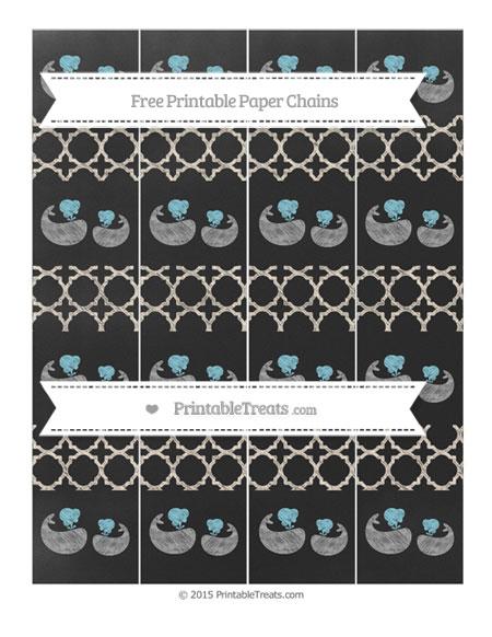 Free Antique White Quatrefoil Pattern Chalk Style Baby Whale Paper Chains