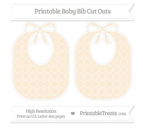 Free Antique White Quatrefoil Pattern Large Baby Bib Cut Outs