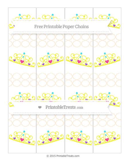 Free Antique White Quatrefoil Pattern Princess Tiara Paper Chains