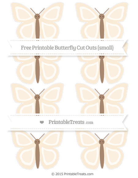 Free Antique White Small Butterfly Cut Outs