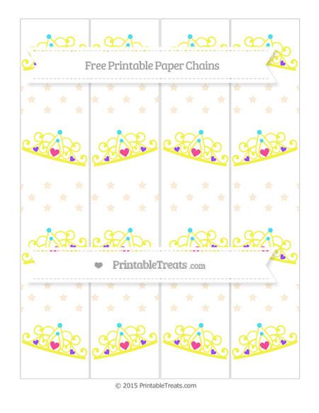 Free Antique White Star Pattern Princess Tiara Paper Chains