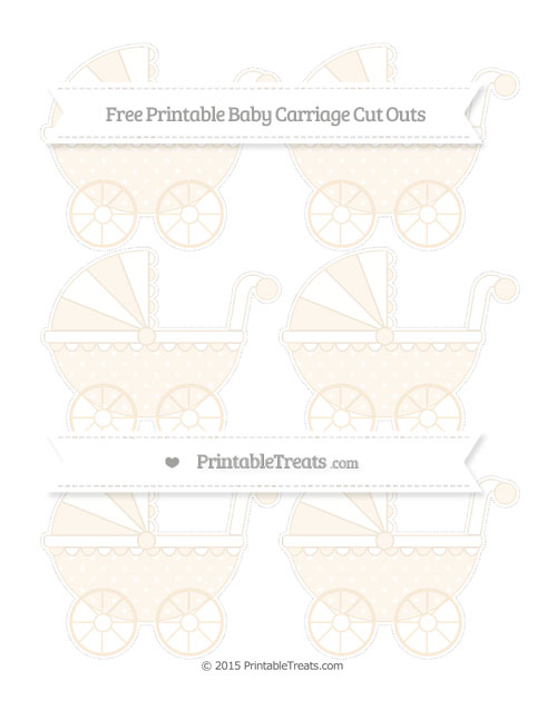 Free Antique White Star Pattern Small Baby Carriage Cut Outs