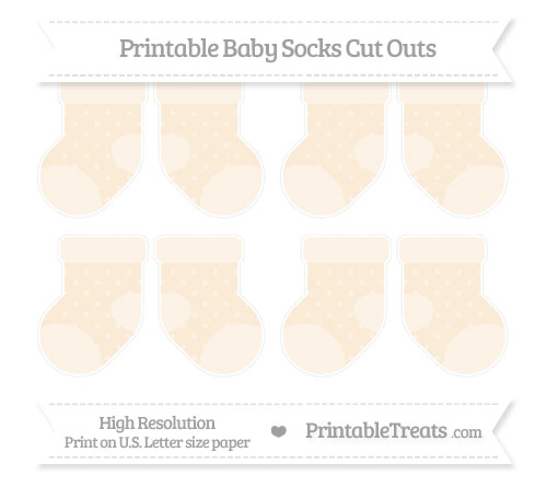 Free Antique White Star Pattern Small Baby Socks Cut Outs