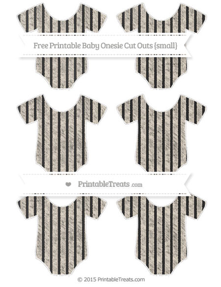 Free Antique White Thin Striped Pattern Chalk Style Small Baby Onesie Cut Outs
